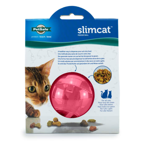 Petsafe SlimCat Cat Food Dispenser in Pink