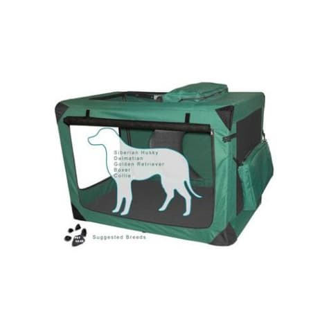 Pet Gear Generation II Green Deluxe Portable Soft Dog Crate