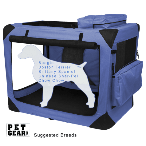 Pet Gear Generation II Lavender Deluxe Portable Soft Dog Crate