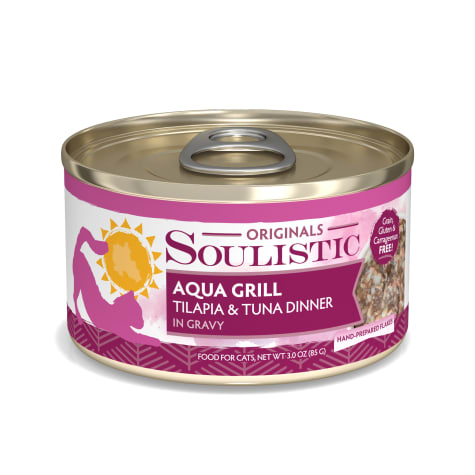 Soulistic Aqua Grill Tilapia & Tuna Dinner in Gravy Wet Cat Food