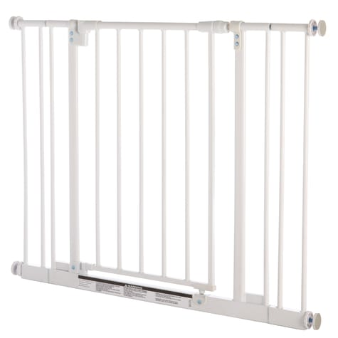 North States MyPet Easy-Close Pet Gate White