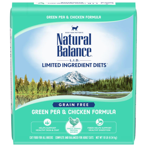 Natural Balance L.I.D. Limited Ingredient Diets Grain Free Green Pea & Chicken Formula Dry Cat Food