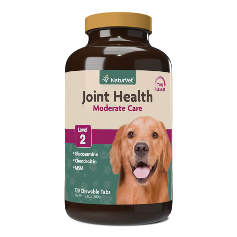 NaturVet Joint Health Time Release Level 2-Maximum Hip & Joint Supplement for Dogs