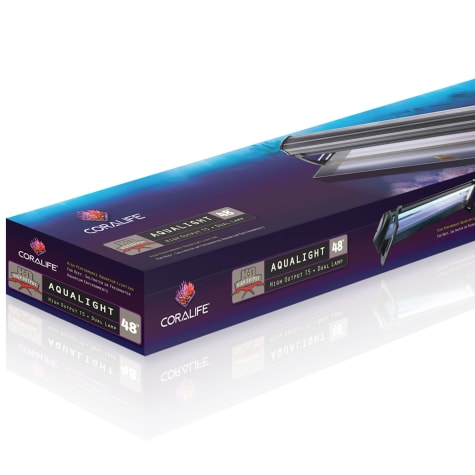 Coralife Dual Fixture High Output T5 Aquarium Light Fixture, 48