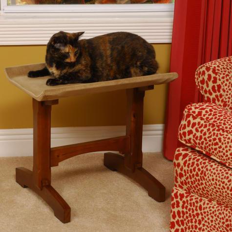 Mr. Herzher's Single Seat Feline Furniture in Brown