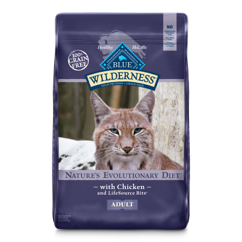 Blue Buffalo Wilderness Natural Adult High Protein Grain Free Chicken Dry Cat Food