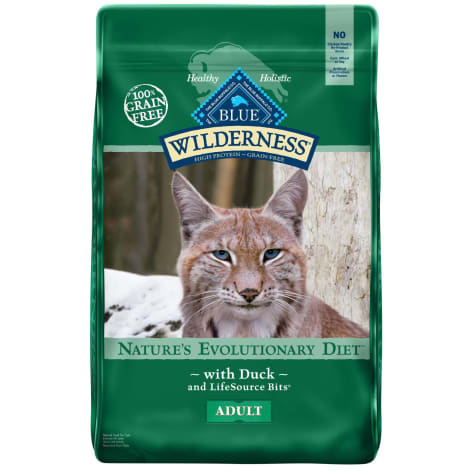 Blue Buffalo Wilderness Natural Adult High Protein Grain Free Duck Dry Cat Food