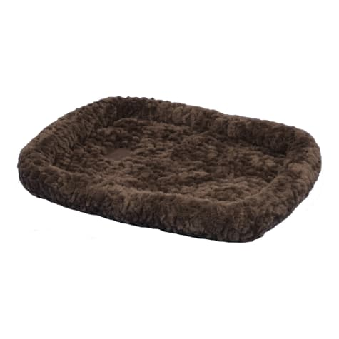 Precision Pet SnooZZy Chocolate Brown Bolster Crate Mat