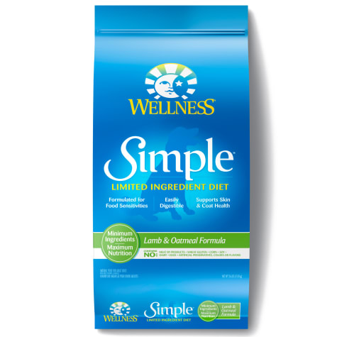 Wellness Simple Limited Ingredient Diet Lamb & Oatmeal Formula Dry Dog Food