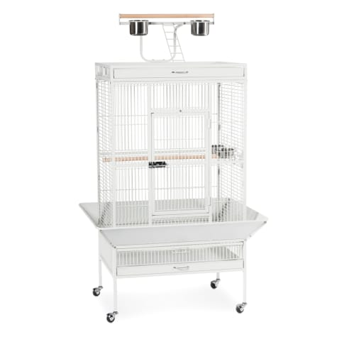 Prevue Pet Products Signature Select Series Wrought Iron Bird Cage in Chalk White