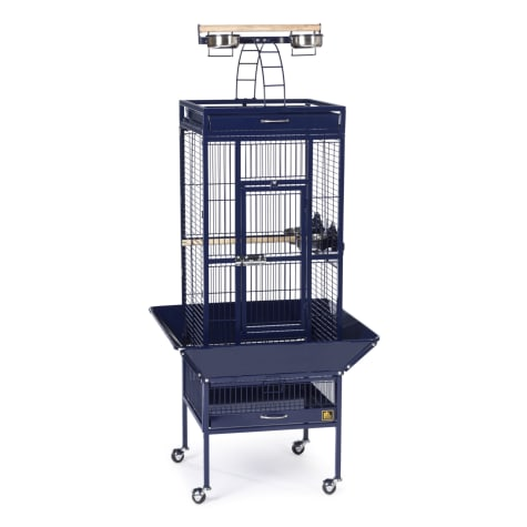 Prevue Pet Products Signature Select Series Wrought Iron Bird Cage in Metallic Cobalt