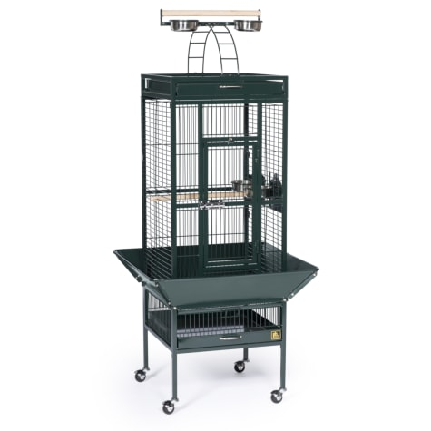 Prevue Pet Products Signature Select Series Wrought Iron Bird Cage in Metallic Jade