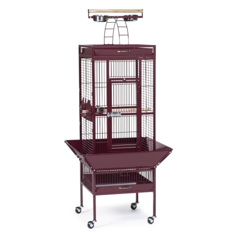 Prevue Pet Products Signature Select Series Wrought Iron Bird Cage in Metallic Garnet Red