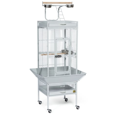 Prevue Pet Products Signature Select Series Wrought Iron Bird Cage in Pewter