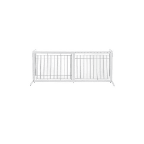Richell Freestanding Tall Pet Gate in Origami White