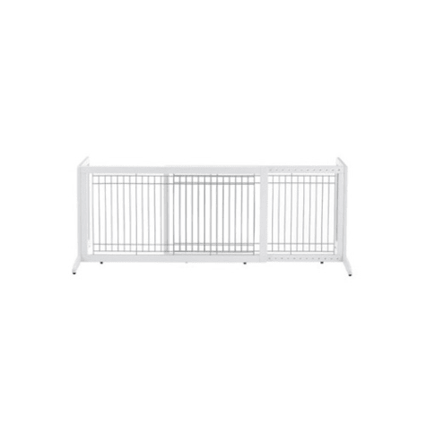 Richell Freestanding Pet Gate in Origami White