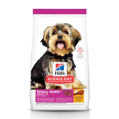 Hill's Science Diet Adult Small Paws Chicken Meal & Rice Recipe Dry Dog Food