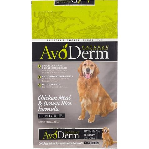 AvoDerm Natural Senior Chicken Meal & Brown Rice Formula Dry Dog Food