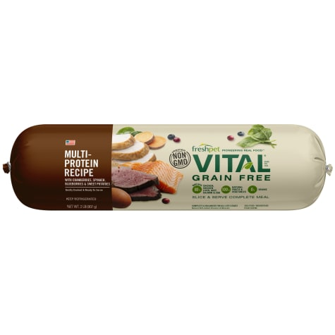 Freshpet Vital Grain Free Chicken, Beef, Salmon & Egg Fresh Dog Food
