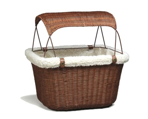 PetSafe Happy Ride Tagalong Wicker Bicycle Basket for Dogs