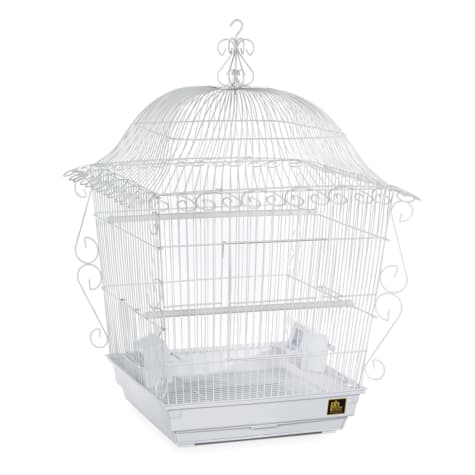 Prevue Pet Products Designer Scrollwork Series Jumbo Tiel Scrollwork Bird Cage in White