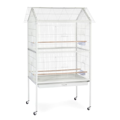 Prevue Pet Products Flight Aviary White Bird Cage