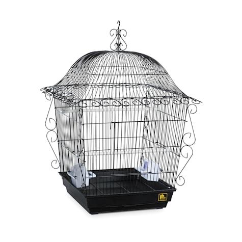 Prevue Pet Products Designer Scrollwork Series Jumbo Tiel Scrollwork Bird Cage in Black