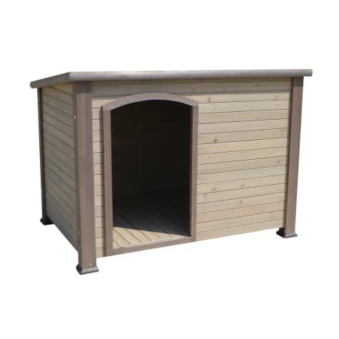 Precision Pet Extreme Outback Log Cabin Dog Houses in Taupe