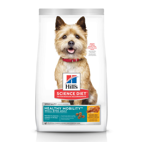 Hill's Science Diet Adult Healthy Mobility Small Bites Chicken Meal, Brown Rice & Barley Recipe Dry Dog Food