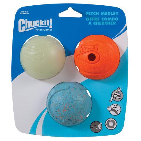 Chuckit! Fetch Medley Ball Set Dog Toys
