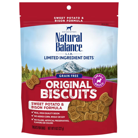 Natural Balance L.I.T. Limited Ingredient Treats Small Breed Sweet Potato & Bison Formula Dog Treats
