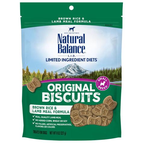 Natural Balance L.I.T. Limited Ingredient Treats Small Breed Brown Rice & Lamb Meal Formula Dog Treats
