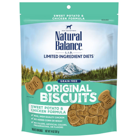 Natural Balance L.I.T. Limited Ingredient Treats Sweet Potato & Chicken Formula Dog Treats