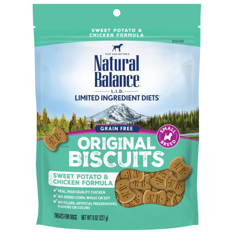 Natural Balance L.I.T. Limited Ingredient Treats Small Breed Sweet Potato & Chicken Formula Dog Treats