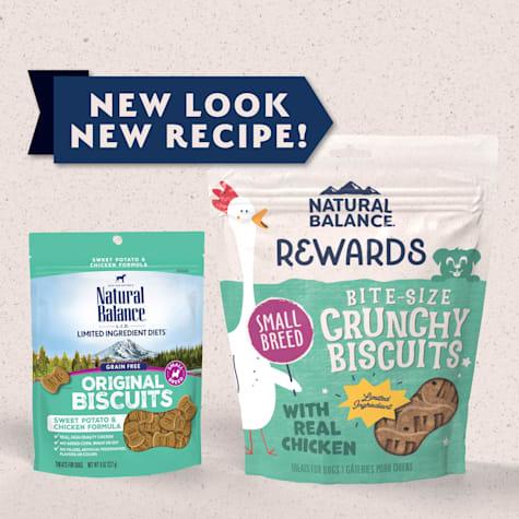 Natural Balance L.I.T. Limited Ingredient Treats Small Breed Sweet Potato & Chicken Formula Dog Treats
