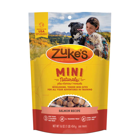 Zuke's Mini Naturals Savory Salmon Recipe Dog Treats