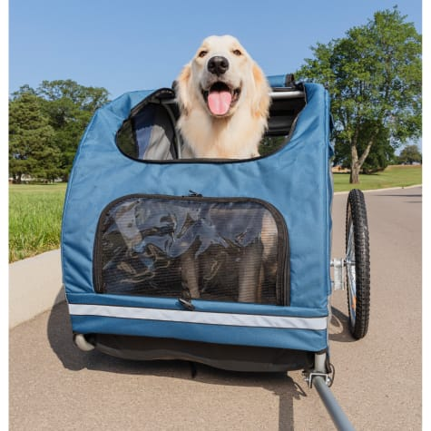 PetSafe Happy Ride Blue Dog Bicycle Trailer