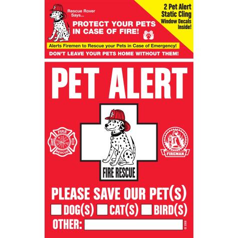 Pet Safety Alert Rescue Rover Pet Alert Fire Rescue Decals