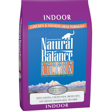 Natural Balance Indoor Ultra Chicken Meal, Brown Rice, Oat Groats, Salmon Meal & Pea Fiber Dry Cat Food