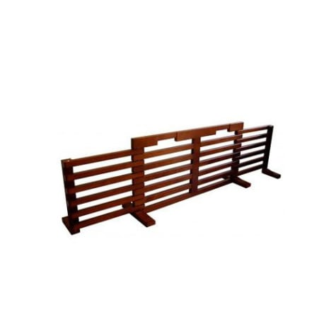 Zoovilla Gate-N-Crate Folding Pet Gate with Cherry Finish