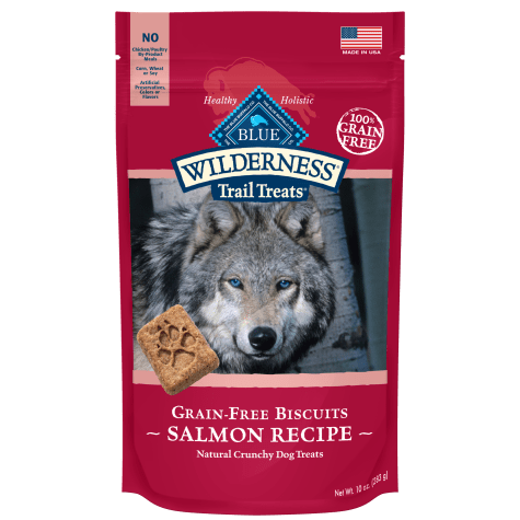 Blue Buffalo Blue Wilderness Trail Treats Salmon Biscuits Dog Treats