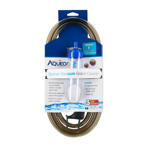 Aqueon Siphon Vacuum Aquarium Gravel Cleaner, Medium