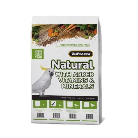 ZuPreem AvianMaintenance Natural Bird Diet for Cockatiels