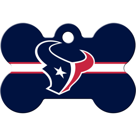 Quick-Tag Houston Texans NFL Bone Personalized Engraved Pet ID Tag, Large
