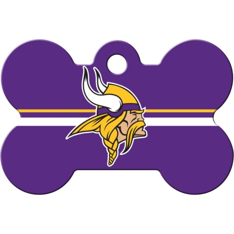 Quick-Tag Minnesota Vikings NFL Bone Personalized Engraved Pet ID Tag, Large