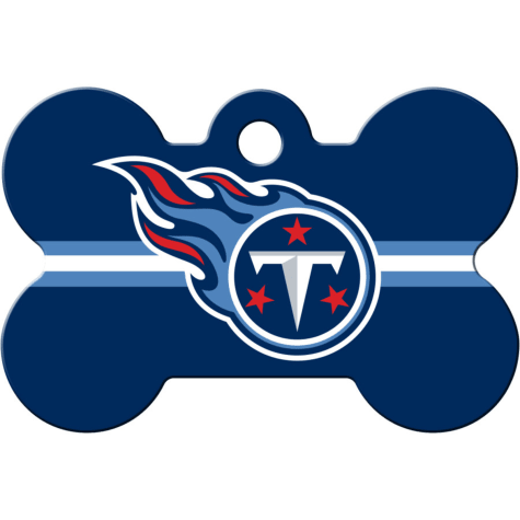 Quick-Tag Tennessee Titans NFL Bone Personalized Engraved Pet ID Tag, Large
