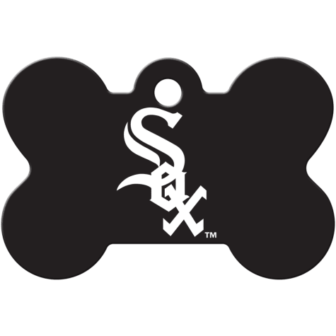 Quick-Tag Chicago White Sox MLB Bone Personalized Engraved Pet ID Tag, Large