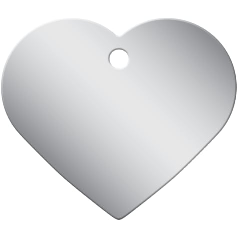 Quick-Tag Chrome Heart Personalized Engraved Pet ID Tag, Large