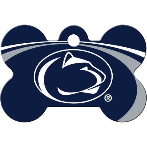 Quick-Tag Penn State Lions NCAA Bone Personalized Engraved Pet ID Tag, Large