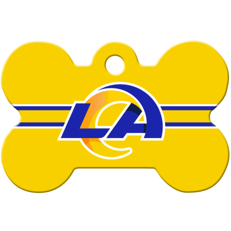 Quick-Tag Los Angeles Rams NFL Bone Personalized Engraved Pet ID Tag, Large